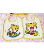 Lovely Tiger (Qiao Hu 巧虎) Collection: Qiao Hu 巧虎 Bibs Set (2pcs/ Set)