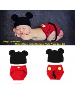 Baby Crochet Set~ 2pcs Set Mickey Mouse Knitted Costume Photo Props