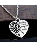 Fashion Korean Mother and Daughter Love Pendant with Necklace