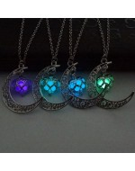 Sailor Moon Pendant Necklace Luminous Glow In Dark Necklace