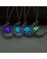 Sailor Moon Pendant Necklace Luminous Glow In Dark Necklace