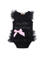 My Little Black Dress Sweet Baby Girl Romper