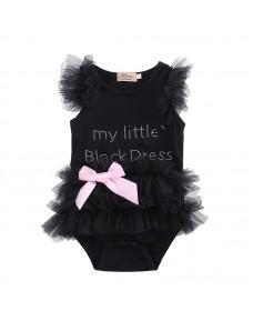 My Little Black Dress Sweet Baby Girl Romper
