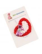 Baby Rosette Heart Headband with Rhinestones