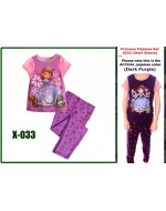 Sofia the First Pajamas Set X033 (Short Sleeve)