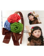 Sweet Flowers Brown Headband **BUY 1 FREE 1**