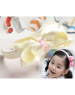 Sweet Cream White Ribbon Headband