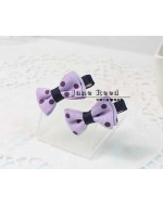 Sweet Purple Polka Dots Hair Clip (Clip length: 3.4cm)