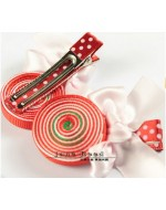 Sweet RED Lollipop Ribbon Clip (Clip Length: 4.8cm)