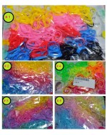 Colorful Hair Styling Rubber Hairbands/ Elastic Hair Ropes