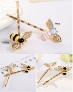 Cute Bees Crystal Wings Hairpin (2 colors)
