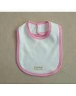 Organic Cotton - Bibs (tape) - White with Blue or Pink Edge