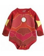Iron Man Long-Sleeve Baby Romper