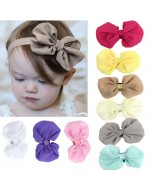 Girls Chiffon Flower Elastic Headband Photography Headbands (9 colors)