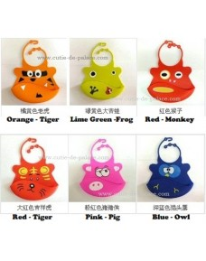 Cute Silicone Baby Bib -100% natural silicone (BPA Free) **BUY 1 FREE 1**
