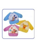 Cartoon Baby lunch Bibs with Sleeve/ waterproof clothes for meal