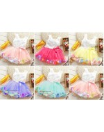 Sweet Princess Floral Petal Dress (7 colours)