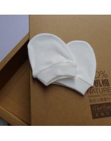 Organic Cotton - Baby Mittens (White)
