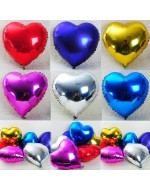 "18"" Multi Colour Non-Helium Heart Shape Foil Balloon"