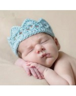 Baby Crochet - Knitted Princess/ Prince Crown/ Tiara Headband (4 colours)