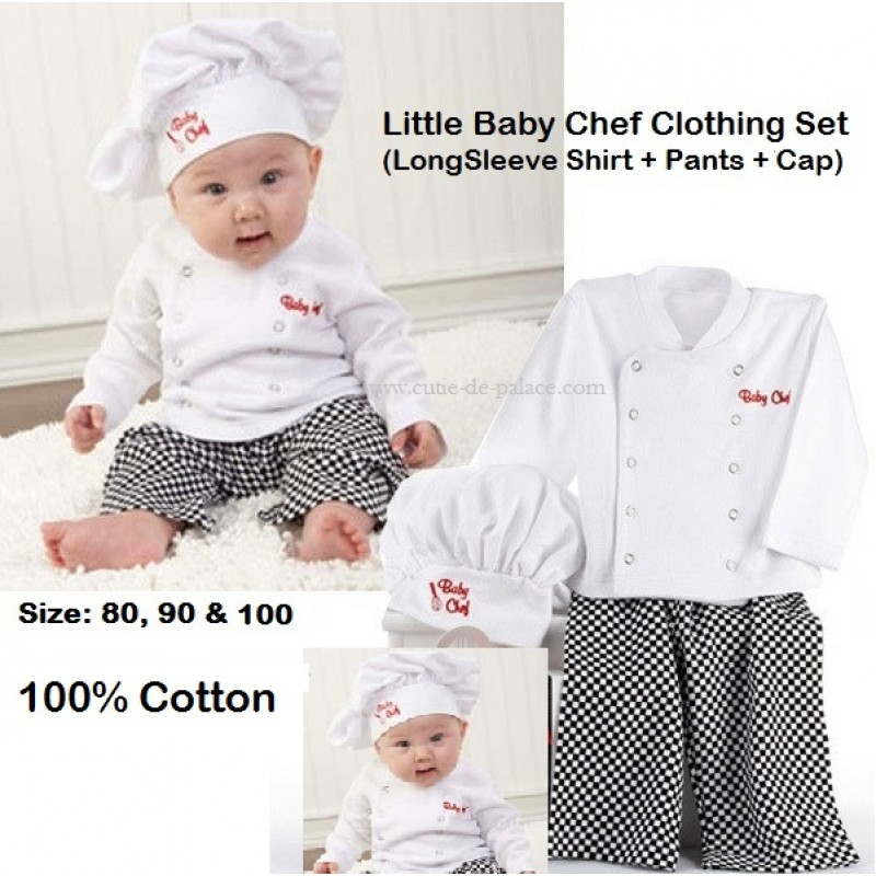 45c6f8056 Costume Chef Baby   Baby Boy Girl Cook Chef Carnival Party Fancy ...