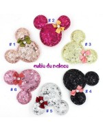 Lovely Mickey Minnie Sequins Hair Clip/ Barrette (6 Colors) **BUY 1 FREE 1**