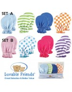Luvable Friends Scratch Mittens (4pairs/Set)