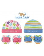 Luvable Friends Layette Collection- Cap & Booties Set