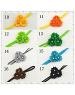 Beautiful Satin Ribbon Multilayer Flower Rhinestone Headband (17 Colours)