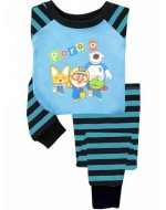 PORORO Blue Pajamas Set