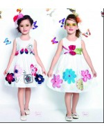 Design Code: Ronny 36 (Model on RIGHT side -Dress with Green waist Ribbons)