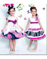 Design Code: Ronny 43 (Model on LEFT side -Dress with Blue & Red Ribbons)