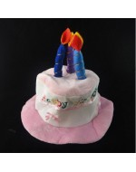 Fun Birthday Hat (Pink/ Blue/ Red)