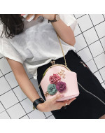 Fashion Stereo Flowers Small Tote/ Handbag