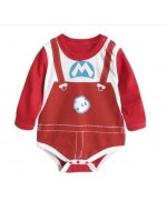 Super Mario Long-Sleeve Baby Romper