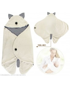 Cute Baby Swaddle/ Sleeping Bag/ Blanket (White)