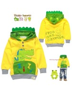 Fashion Boy's Cotton Hooded Sweater/ Jacket